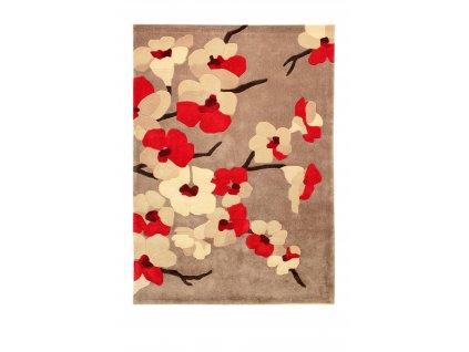 Flair Rugs koberce AKCE: 120x170 cm Ručně všívaný kusový koberec Infinite Blossom Red - 120x170 cm