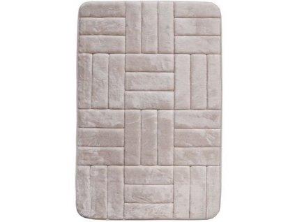 BO-MA koberce AKCE: 50x80 cm Protiskluzová koupelnová předložka 3D 667 cream - 50x80 cm