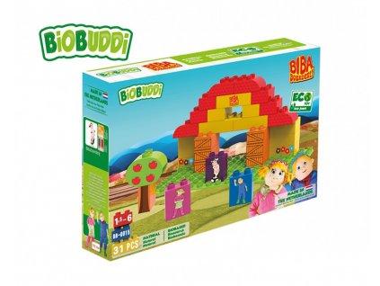 572 BiOBUDDi stavebnice BIBA Boerderij farma 31 ks 18 M