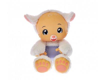 586 Zoopy Babies ovecka plysova 24cm tlapky svitici ve tme na baterie se zvukem 12 M