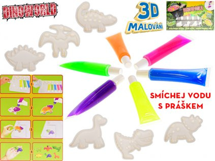 Sada vytvoř si gelového dinosaura 3D v krabičce