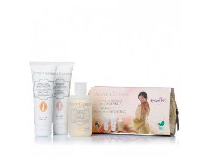 Anne Geddes Italian cosmetics Anne Geddes Cestovní balení pro maminky - tělová koupel + krém proti striím + vyživující tělový krém