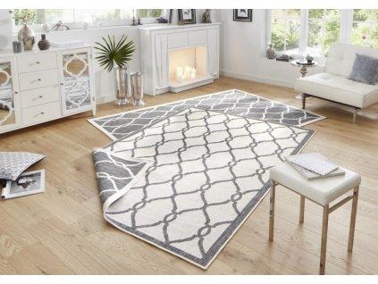 Bougari - Hanse Home koberce AKCE: 160x230 cm Kusový koberec Twin-Wendeteppiche 103121 grau creme - 160x230 cm