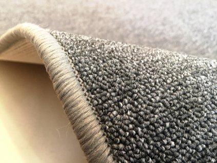Vopi koberce AKCE: 337x120 cm s obšitím Běhoun na míru Astra šedá - šíře 120 cm s obšitím