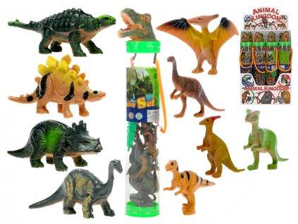 Dinosaurus 3-6cm s doplňky v tubě 12ks v DBX