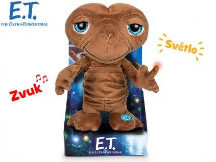 E.T Mimozemšťan 29cm plyšový na baterie se světlem a zvukem v krabičce v sáčku