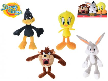 Looney Tunes plyšoví 18cm 4druhy 6ks 0m+ v DBX
