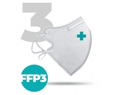 3 x Český bezpečný nano respirátor FFP3 bílý