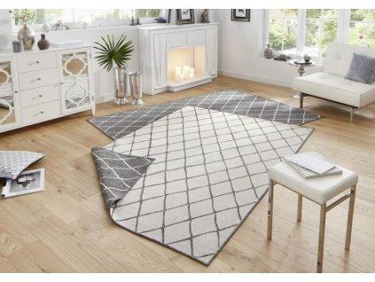 Bougari - Hanse Home koberce AKCE: 80x150 cm Kusový koberec Twin-Wendeteppiche 103118 grau creme - 80x150 cm