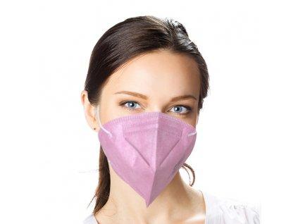 Český respirátor FFP2 - světle růžový