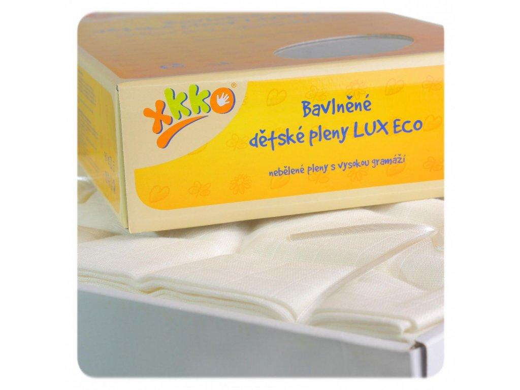 vysokogramazne detske plienky xkko lux eco 80x80 natural 8a0