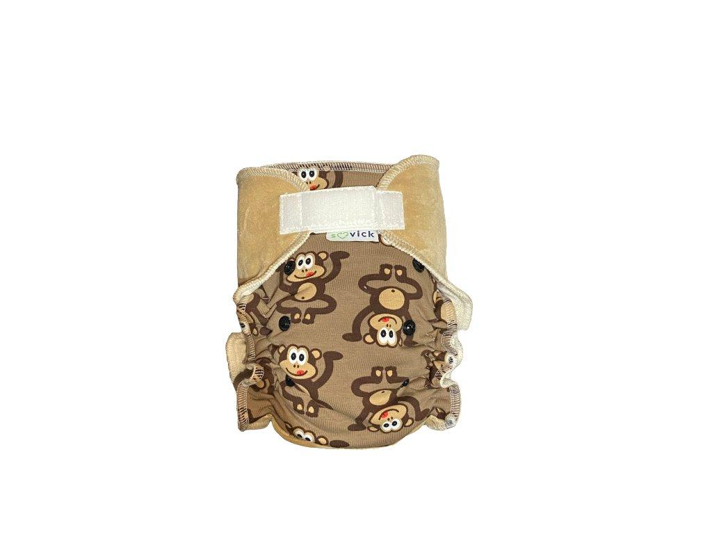 sovick nohavickova plienka konopna opicky s kapucinovou zapinanie na suchy zips