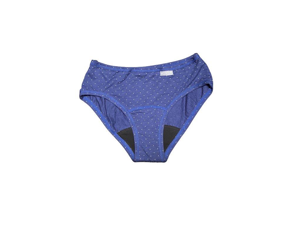 denne menstruacne nohavicky bambus s bio organickou bavlnou cele modre stredna menstruacia