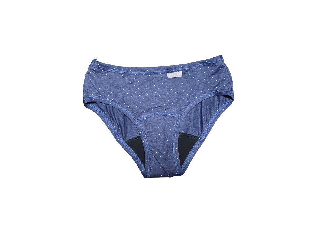 denne menstruacne nohavicky bambus s mikrovlaknom cele modre stredna menstruacia