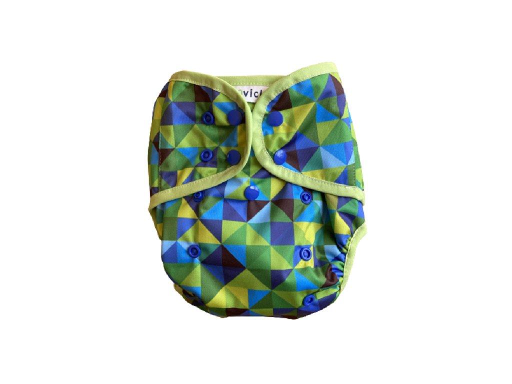 Vrchne nohavicky zelene trojuholniky PAT