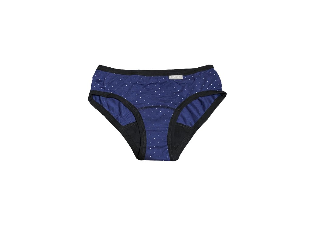 denne menstruacne nohavicky bambus modre bavlna