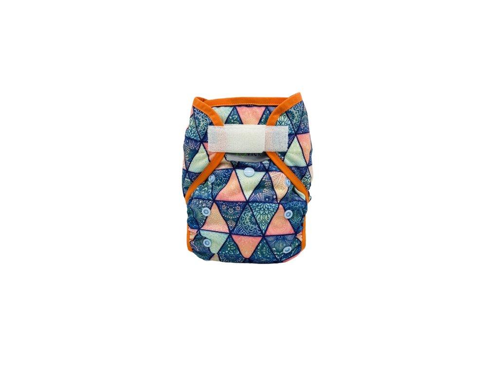 sovick svrchni kalhotky s gumickou trojuholniky s oranzovym lemem sz