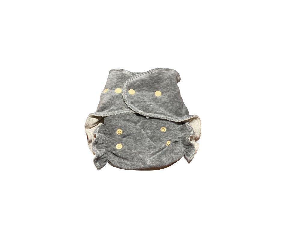 nohavickova plienka konopna xl extra sava siva zlte patentky na patentky