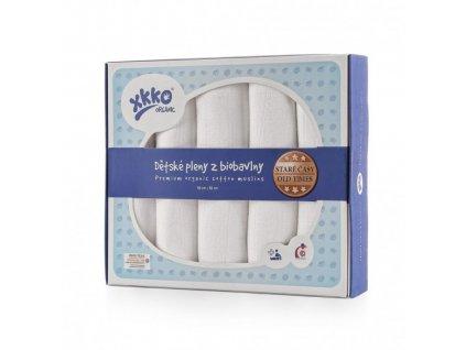 plienky z biobavlny xkko organic 80x80 stare casy biele d19