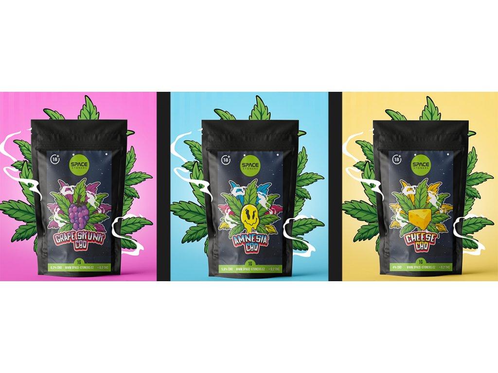CBD Weed Space Stoners Degustační balíček SK3GSAMWW Pack