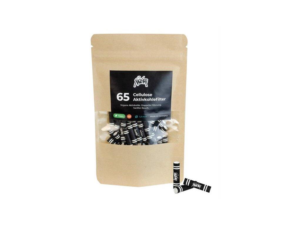 Uhlíkové filtry Kailar Black Aktivní celolůzové filtry Slim 65TIP 162 BK 01