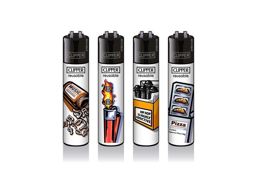 Zapalovač CLIPPER ® CP11RH ABSTRAKT Black Cap