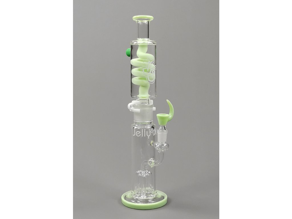 Skleněný skládací bong Jelly Joker Moss Green Freeze Shower
