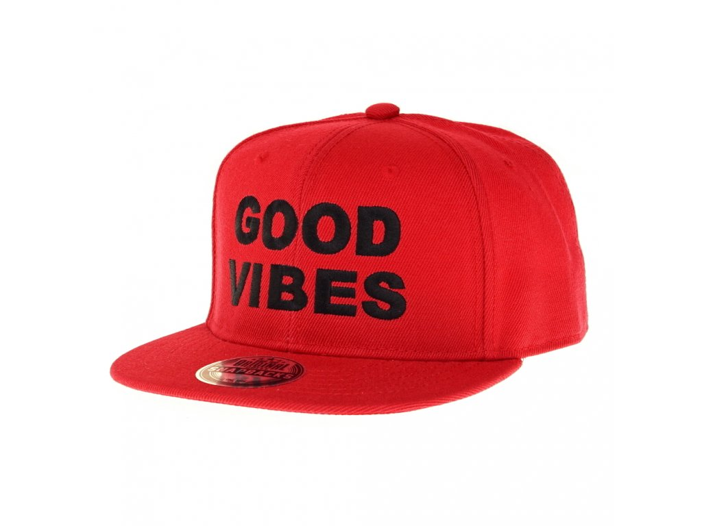 Snapback Good Vibes Červený