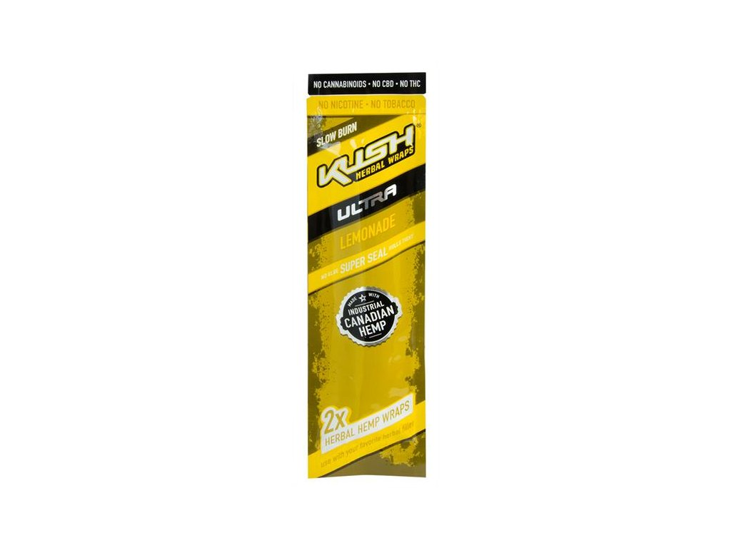 Konopné blunty KUSH Ultra Wraps 2pack Lemonade