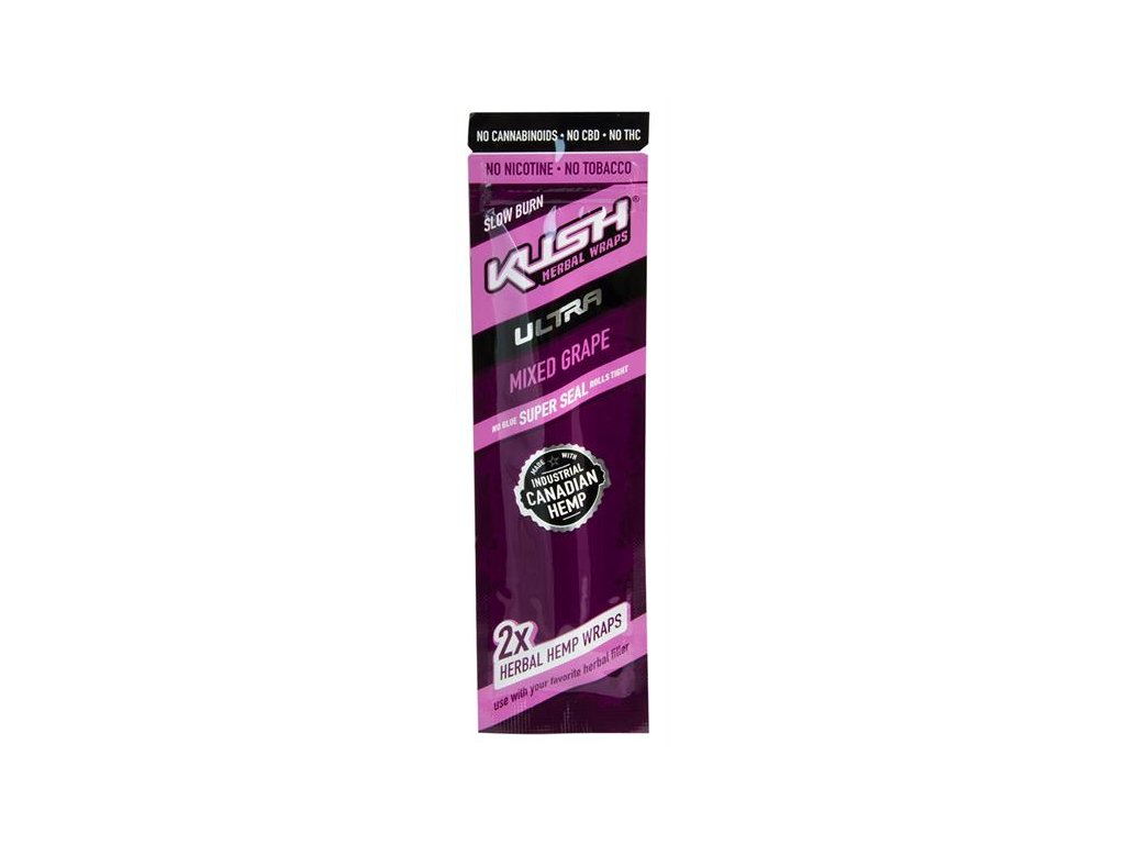 Konopné blunty KUSH Ultra Wraps 2pack Mixed Grape