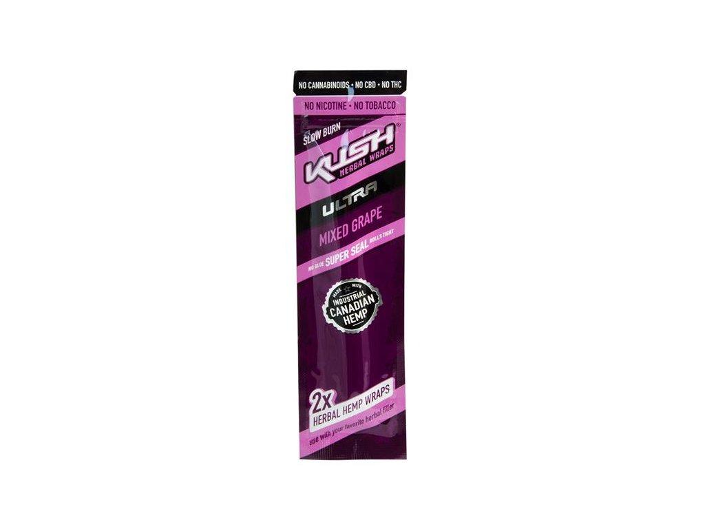 Konopné blunty KUSH Ultra Wraps 2pack Mixed Grape