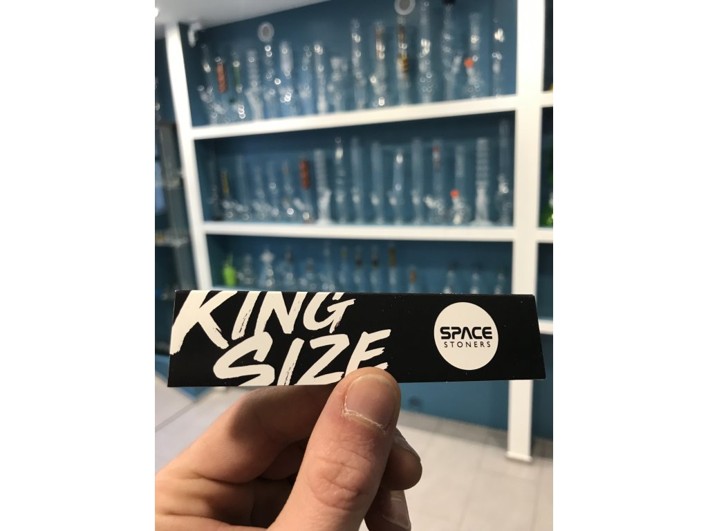 Space Stoners Papers Black White Logo King Size