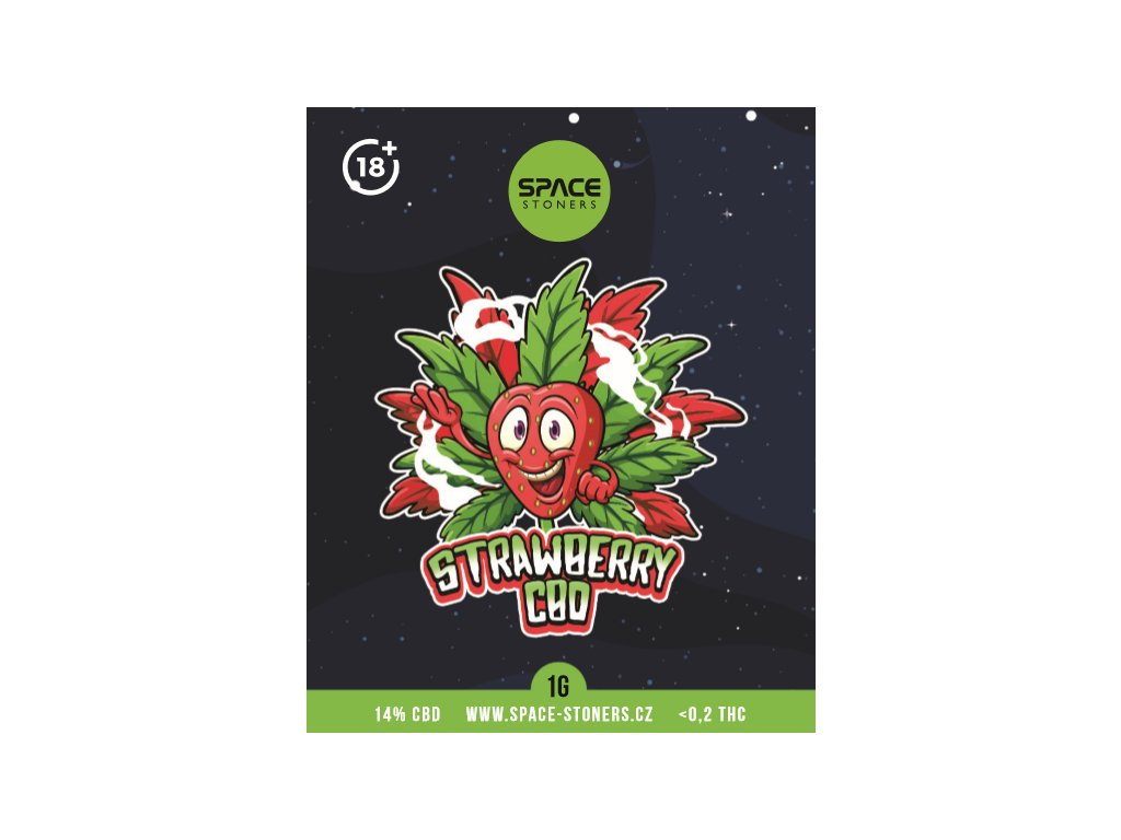 CBD Weed Space Stoners Strawberry Kush CBD 14 % 1 G