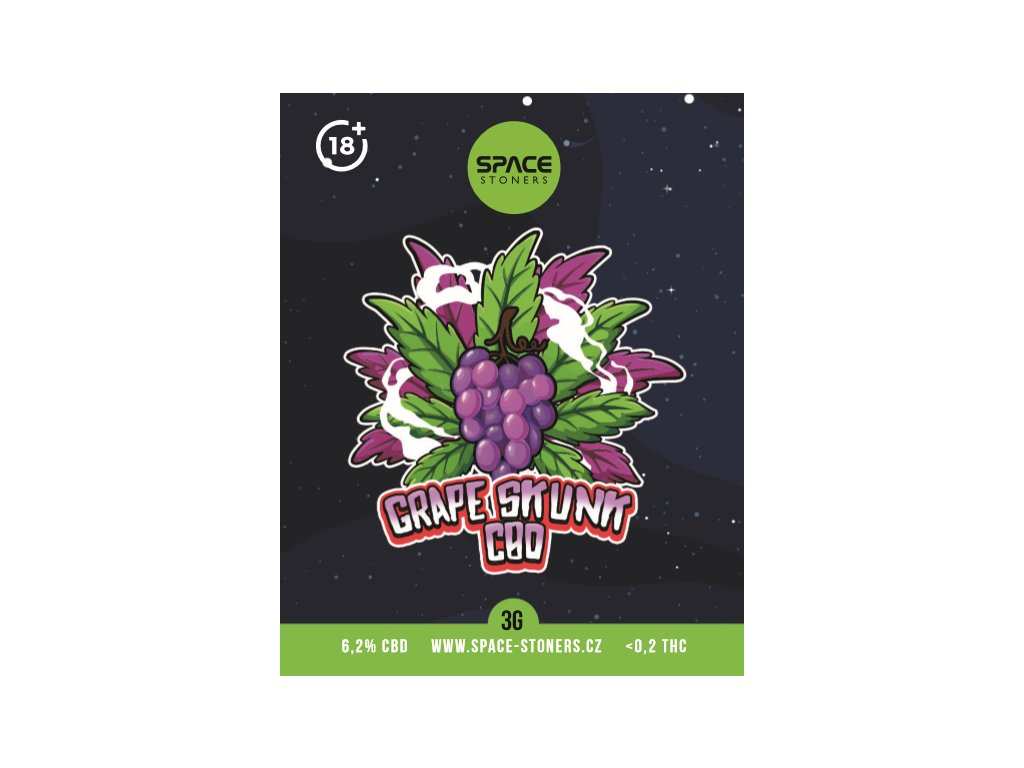 CBD Weed Space Stoners Grape Skunk CBD 6,2 % 3 G