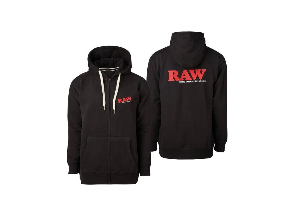 Mikina s kapucí Raw Papers Classic Logo Black Zip