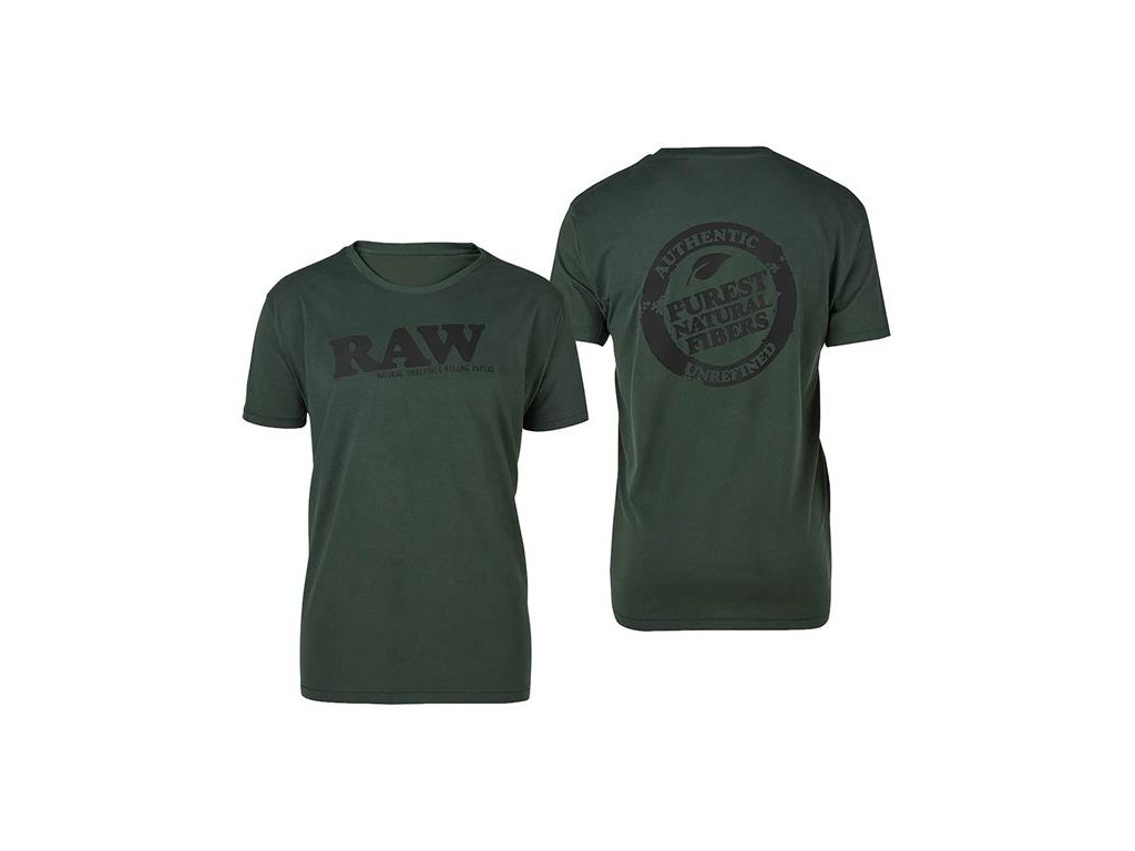 Triko Raw Rolling Papers Shirt Raw Forest Green