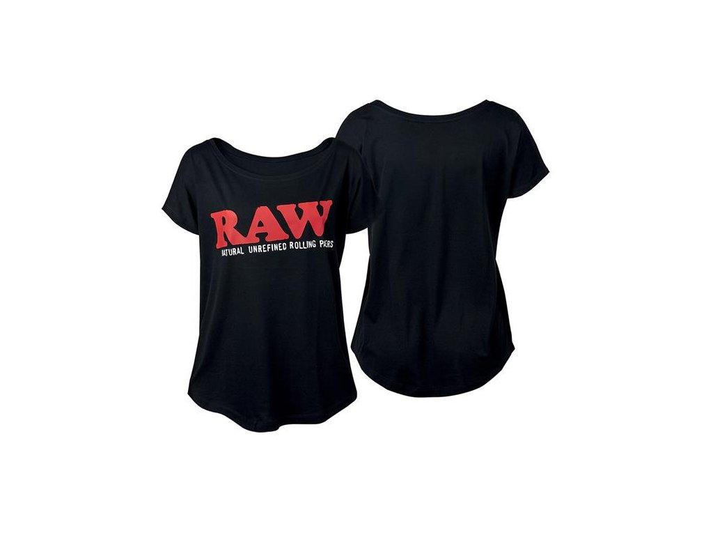 Dámské Triko Raw Rolling Papers Shirt Raw Classic Logo Black