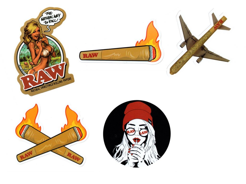 Raw Papers Selection Sticker Pack