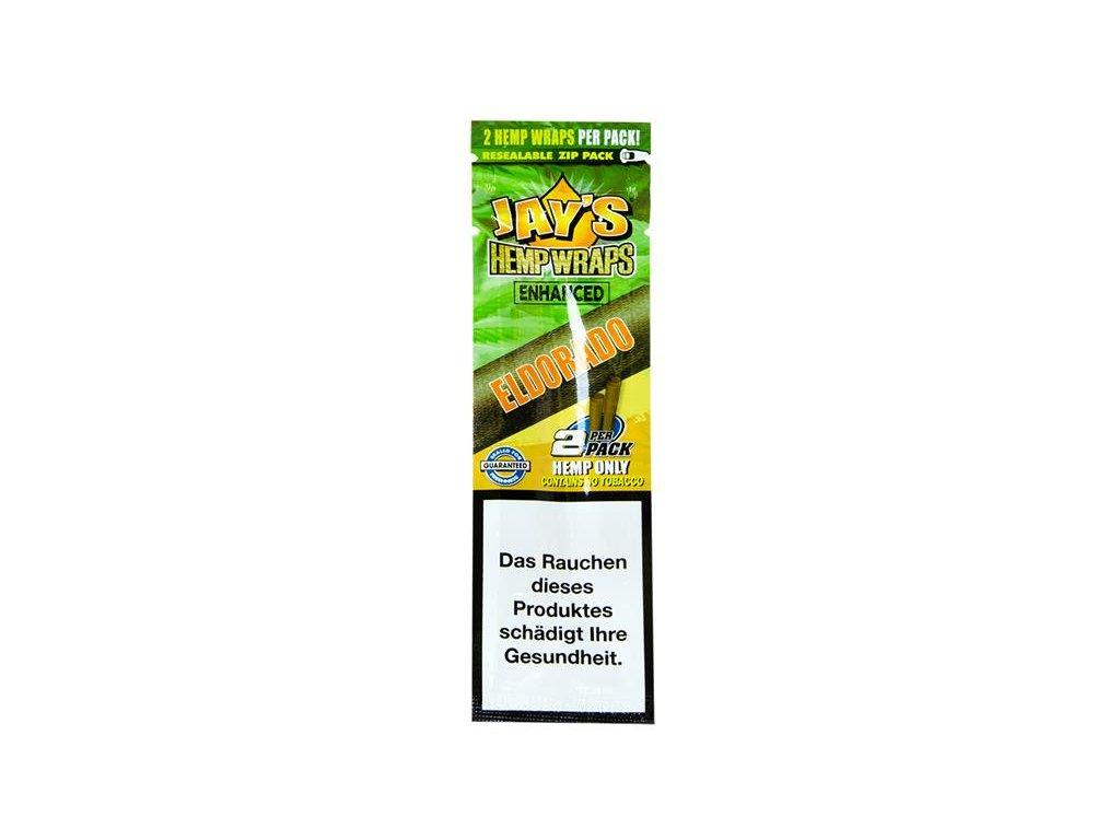 Konopné blunty Juicy Jay´s Terpene Wraps Eldorado 2Pack