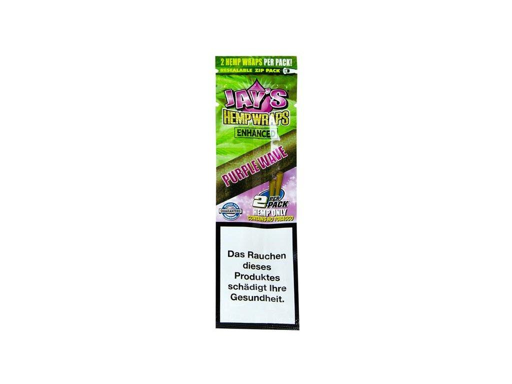 Konopné blunty Juicy Jay´s Terpene Wraps Purple Wave 2Pack