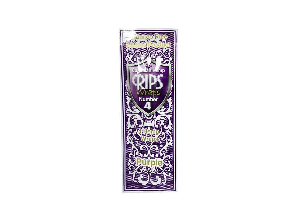 Konopné blunty RIPS Hemp Ultra 4pack No.4 Purple Hemp