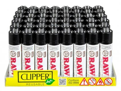 Zapalovač CLIPPER ® CP11H Raw Papers White Edition