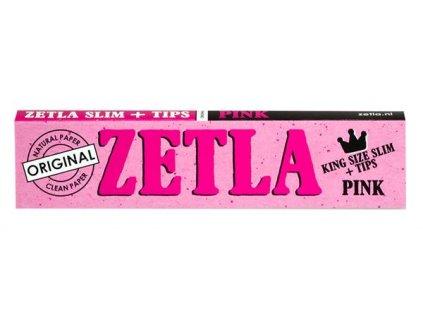Zetla Connoisseur King Size Slim Pack Coloured Pinky