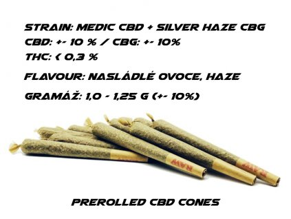 CBD Weed Space Stoners Prerolled Special Cone Medic CBD + Silver Haze CBG 1G
