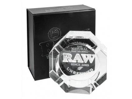 Křišťálový popelník Raw Papers Black