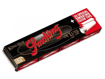 Smoking Black Deluxe Slim Papers + Tips