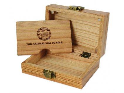 Dřevěná balící stanice Raw Papers Wooden Box