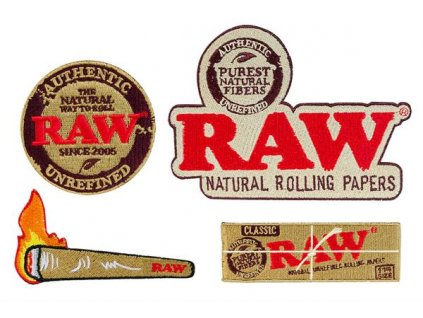 Nášivky nažehlovací Raw Papers 4Pack