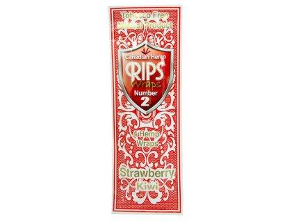 Konopné blunty RIPS Hemp Ultra 4pack No.2 Strawkiwi