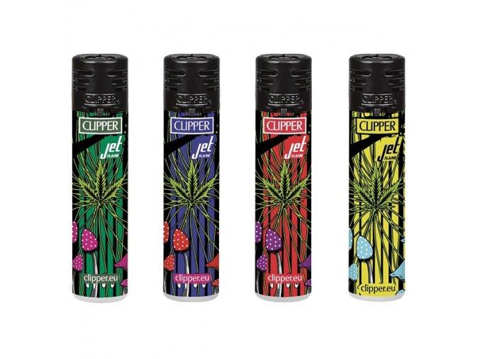 Zapalovač CLIPPER ® CKJ11 Jet Psychodellic Weed